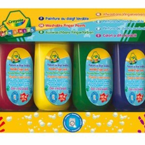 Crayola 4 db tubusos lemosható ujjfesték