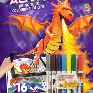 Crayola Color Alive Kastélyok és sárkányok színező