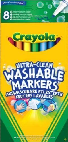 Crayola Extra-kimosható vékony filctoll 8 db