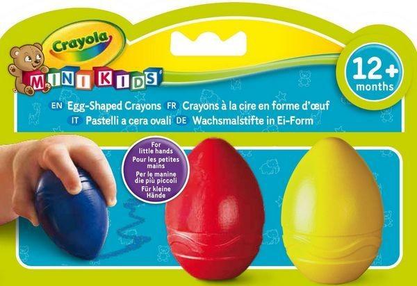 Crayola Mini Kids Tojás alakú viaszkréta 3 db