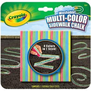 Crayola Többszínű aszfaltkréta 5 db-os