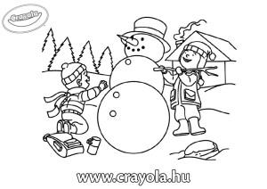 hóember építés