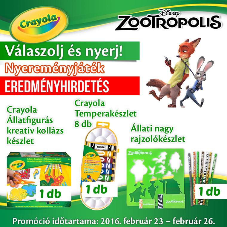 Crayola_Zootropolis_nyeremenyjatek_FB_banner_eredményhirdetés